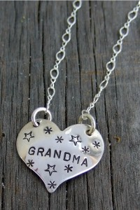 Gr and ma Heart Necklace