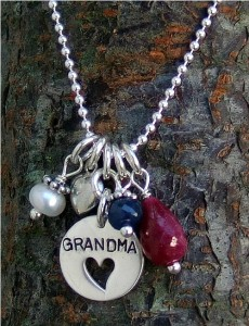 Gr and ma necklace with semi-precious stones