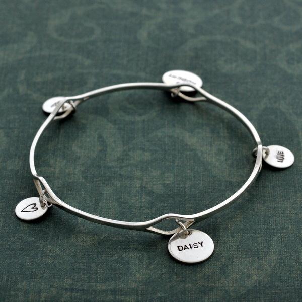 Eyelet charm bracelet