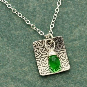 Celtic Necklace with Gemstone