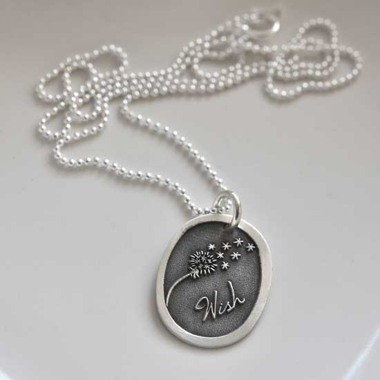 H and  Stamped  and  Etched Wish Necklace