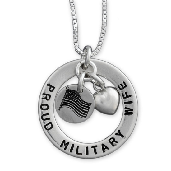 H and  Stamped Military Necklace