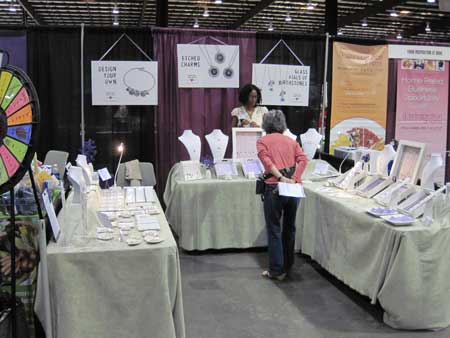 H and  stamped jewelry booth at the expo