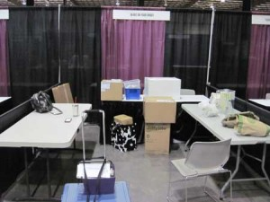 Our booth before