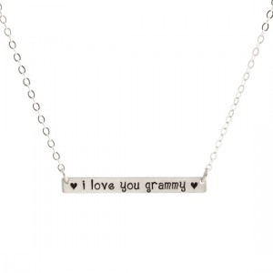 The Bar Necklace h and  stamped for Gr and ma
