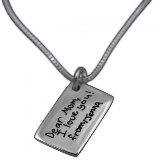 H and writing Jewelry Love Note Charm