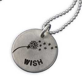 H and  stamped Wishie Necklace
