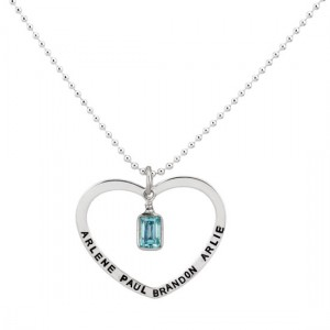 H and  stamped Open Heart Charm
