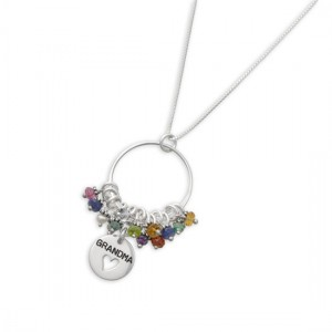Gr and ma Birthstone Necklace