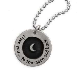 Etched Moon  and  Back Necklace
