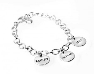 H and  Stamped Charm Bracelet