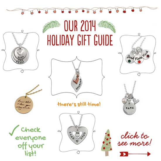 H and writing Jewelry Holiday Gift Guide