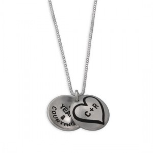 H and  stamped love locket