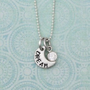 H and  stamped April Moon Necklace