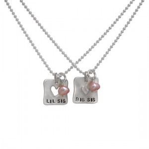H and  stamped sister necklaces