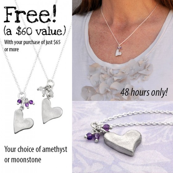 Free necklace with purchase