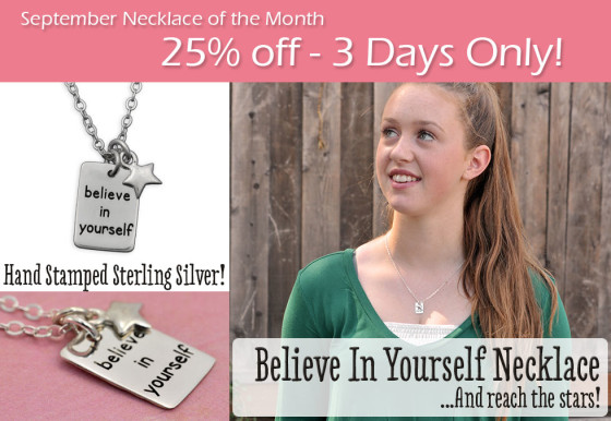 September H and  Stamped Necklace